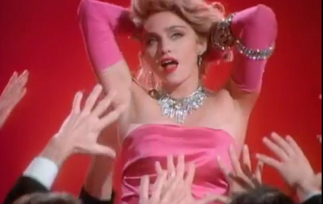 Screen shot, Madonna, Material Girl video (1985)